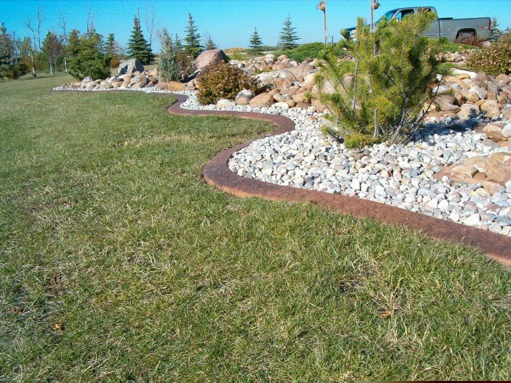 stamped curb in big landscape