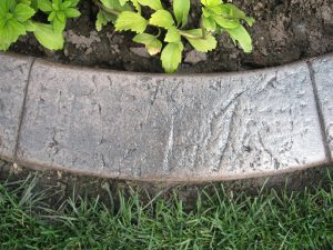 stamped curb