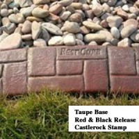 Base-  taupe  Release-  red, black Stamp- castlerock curb