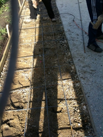 "3.5"" deep is the proper depth for a driveway slab."