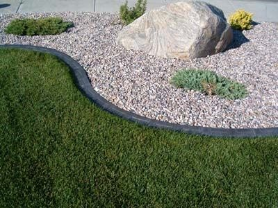 simplicity of shrub bed design is wonderful